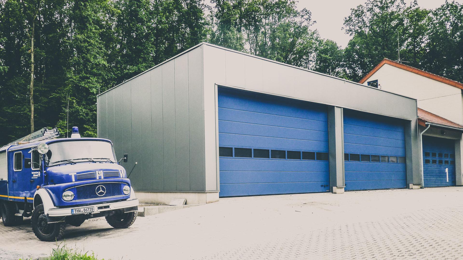Neubau von LKW-Garagen Architekt